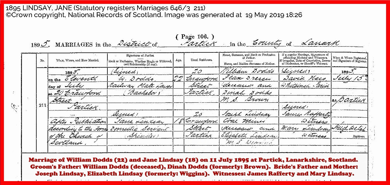 Marriage of my maternal greatgreatgrandparents