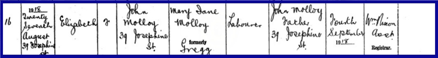 birth-elizabeth-molloy-27-08-1918-39-josephine-street-father-john-molloy-mother-mary-jane-molloy-born-gregg.