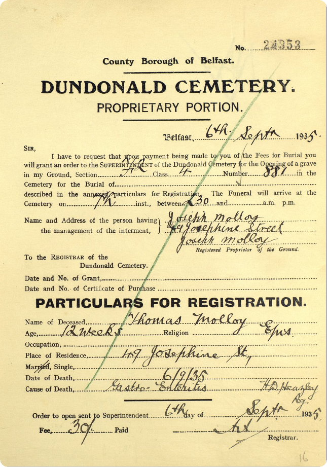 burial-application-THOMAS-MOLLOY-son-of-JOSEPH-MOLLOY-49-josephine-street.